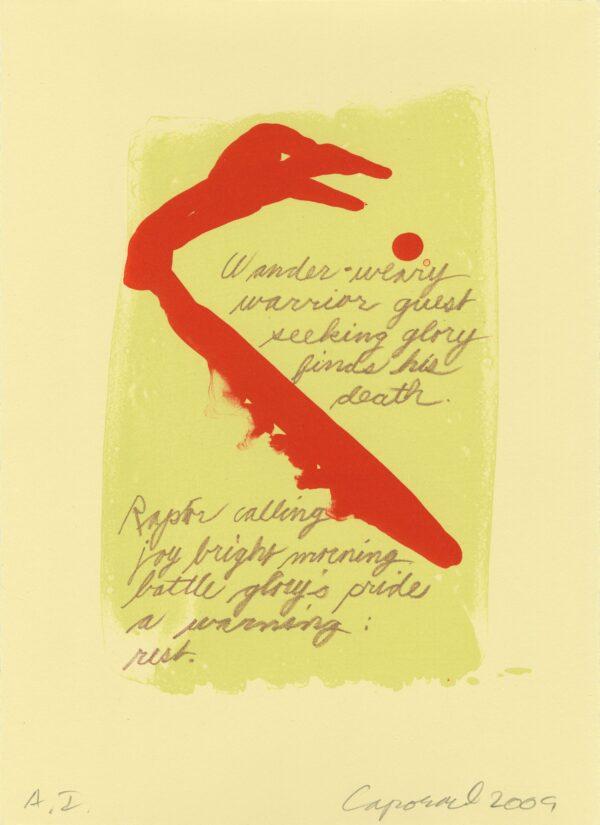 Suzanne Caporael, Raptor Calling, 2009