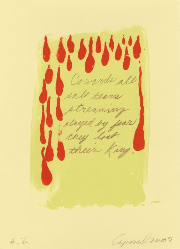 Suzanne Caporael, Salt Tears, 2009