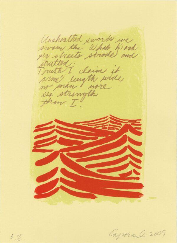 Suzanne Caporael, Whale Road, 2009