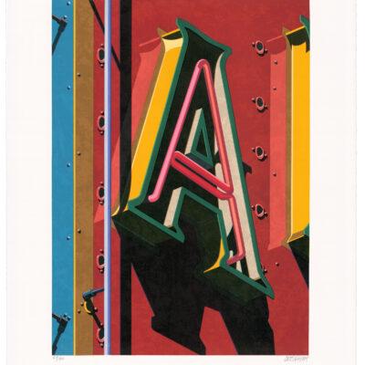 Robert Cottingham, An American Alphabet: A, 2001