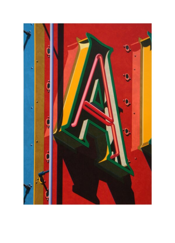 Robert Cottingham, An American Alphabet: A, 2001