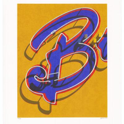 Robert Cottingham, An American Alphabet: B, 2008