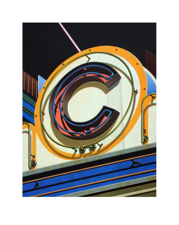 Robert Cottingham, An American Alphabet: C, 2010