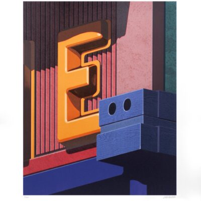 Robert Cottingham, An American Alphabet: E, 2008