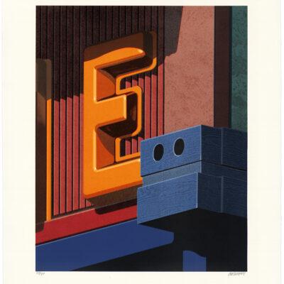 Robert Cottingham, An American Alphabet: E, 2008