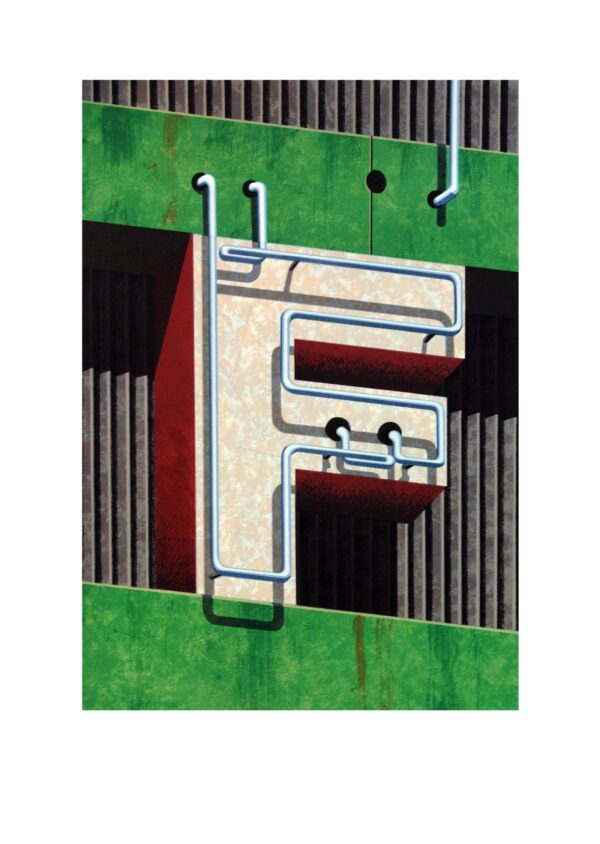 Robert Cottingham, An American Alphabet: F, 1997