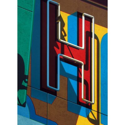Robert Cottingham, An American Alphabet: H, 2010