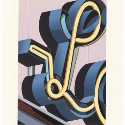 Robert Cottingham, An American Alphabet: L, 2005