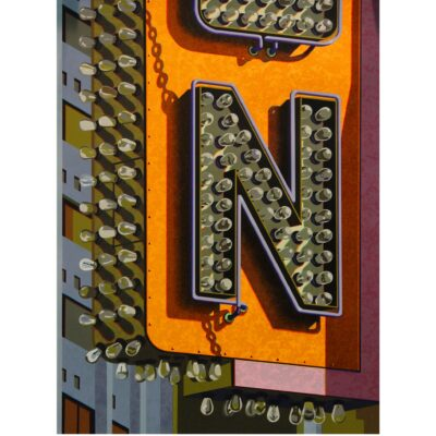 Robert Cottingham, An American Alphabet: N, 2012