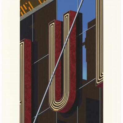Robert Cottingham, An American Alphabet: U, 2012