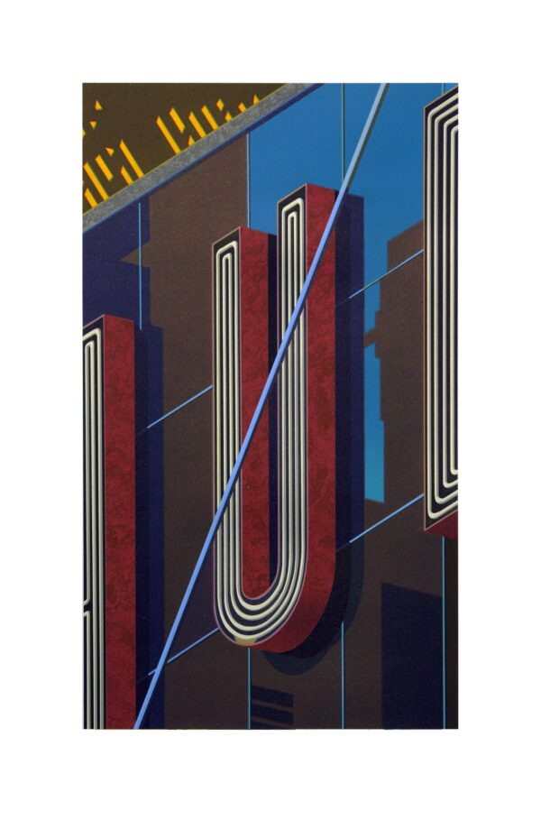 Robert Cottingham, An American Alphabet: U, 2012