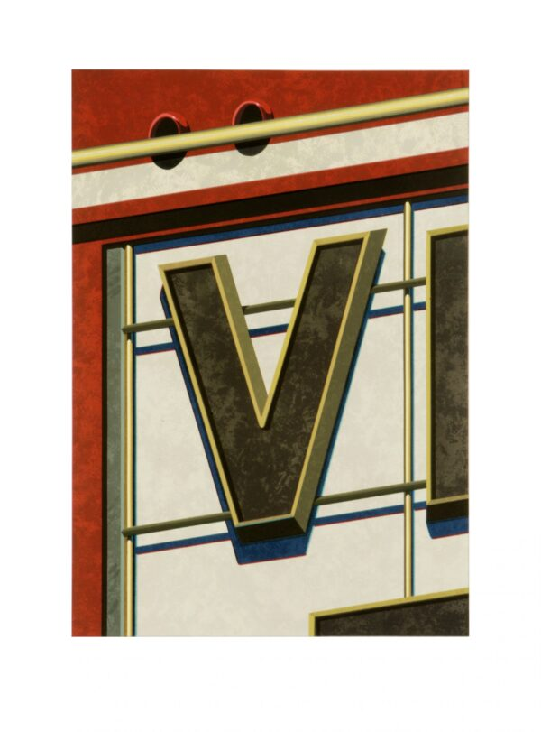 Robert Cottingham, An American Alphabet: V, 2004
