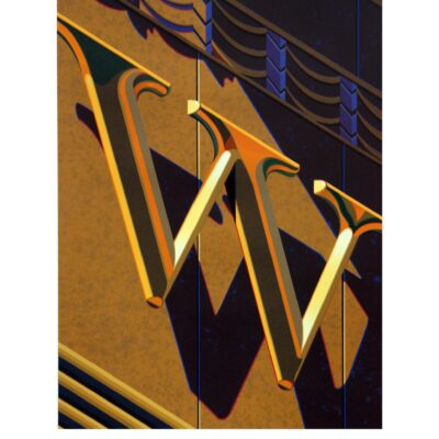 Robert Cottingham, An American Alphabet: W, 2010