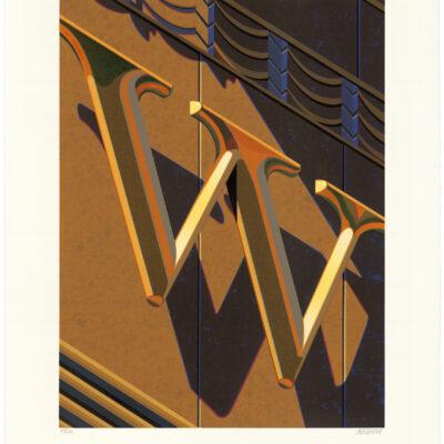 Robert Cottingham, An American Alphabet: W, 2010