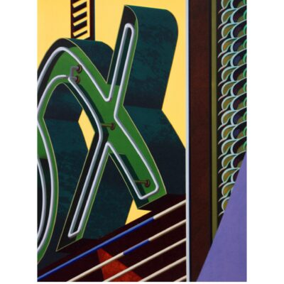 Robert Cottingham, An American Alphabet: X, 2009