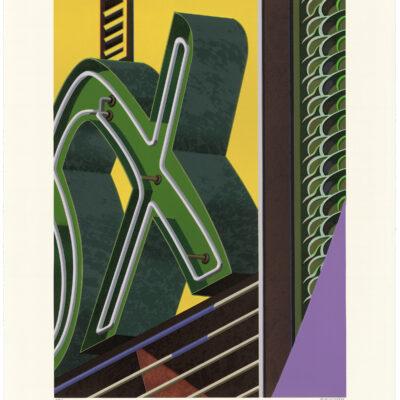 Robert Cottingham, An American Alphabet: X, 2009