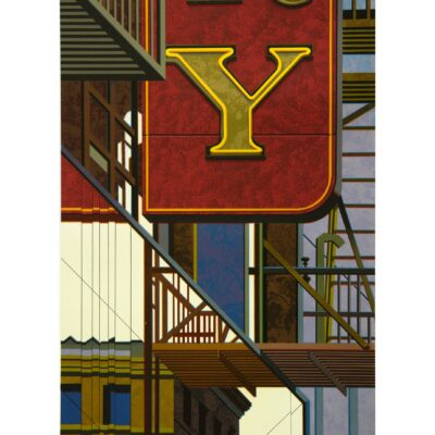 Robert Cottingham, An American Alphabet: Y, 2012