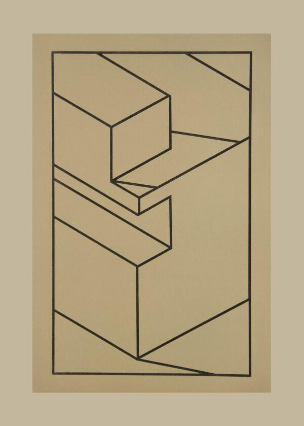 Robert Cottingham, Component X (black line), 2010