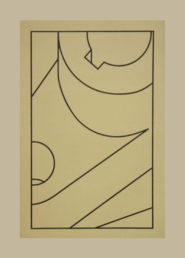 Robert Cottingham, Component XX (black line), 2010