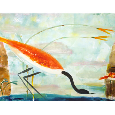 Valentina DuBasky, Cliff Site with Red Heron, 2013