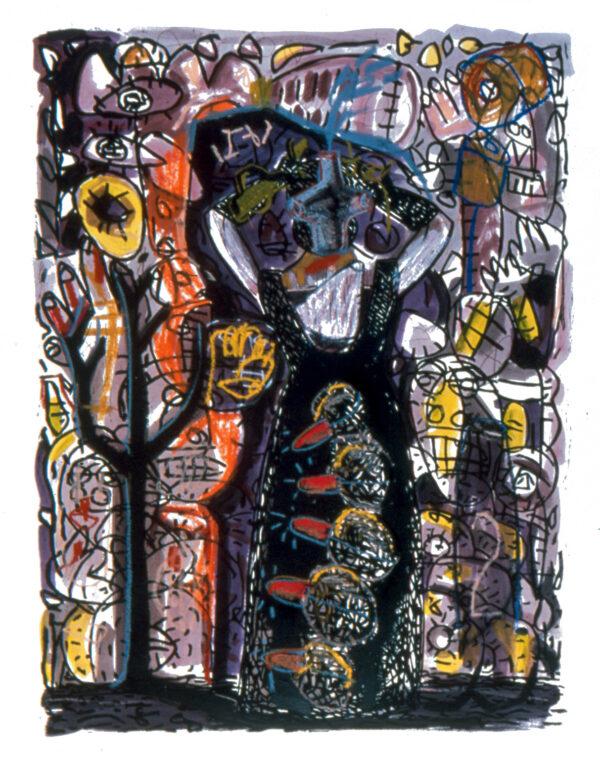 Gronk, Untitled (Tormenta Series #14), 2001