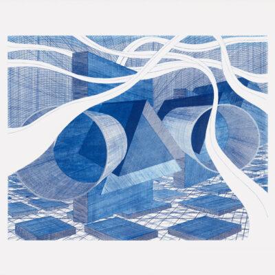 Al Held, MN Blue, 2003