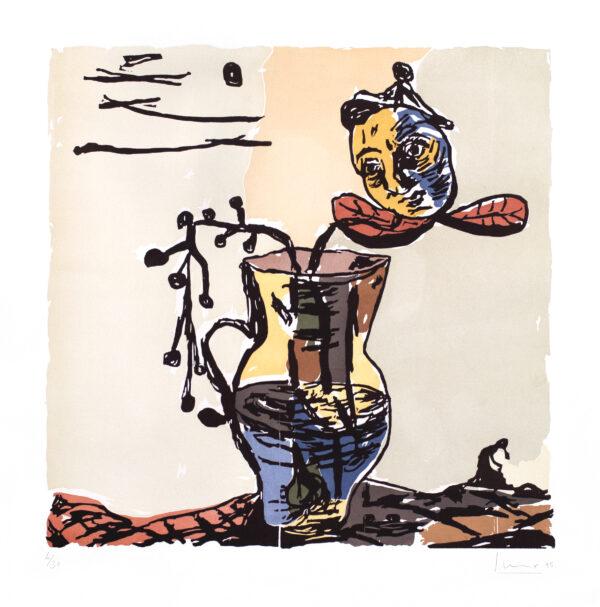 Santi Moix, Untitled (Vase & Floating Head), 1995