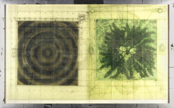 Judy Pfaff, Untitled (Target, fern, mixed media plexi), 2000