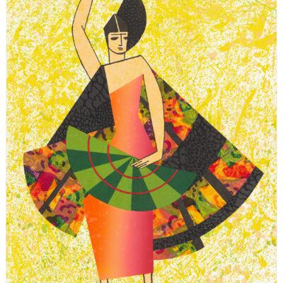 Miriam Schapiro, Exter's Dancer, 1995