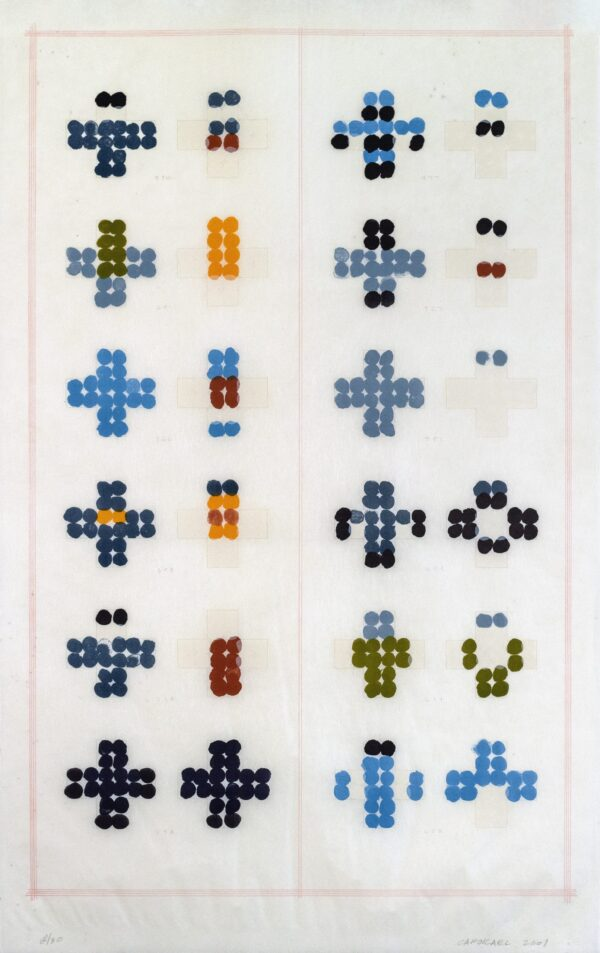 Suzanne Caporael, Wild Birds in City Parks: sheet 2, showing blue, 2001
