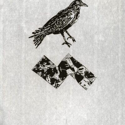 Don Nice, Crow Catch, Monoprint #10, 1994