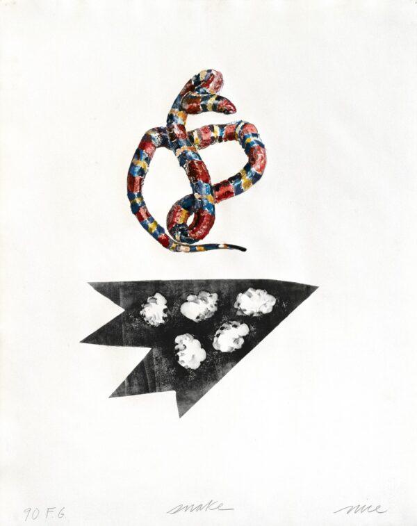Don Nice, F.G. Snake, Monoprint #11, 1994