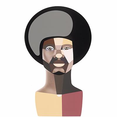 Derrick Adams, Style Variation 1 (Afro), 2020 (thumbnail)