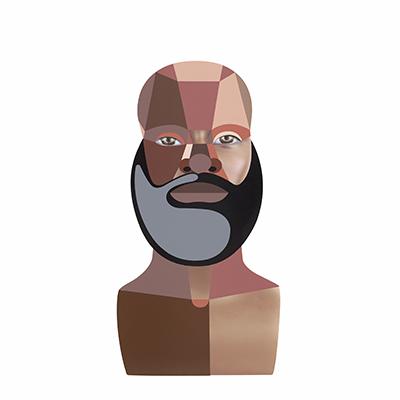 Derrick Adams, Style Variation 4 (Beard), 2020 (thumbnail)